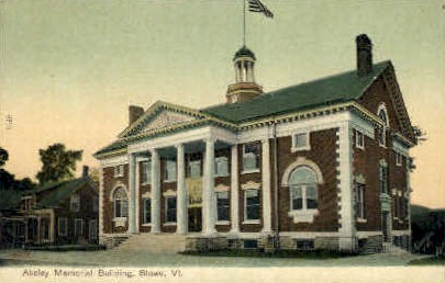 Akeley Memorial Building - Stowe, Vermont VT Postcard
