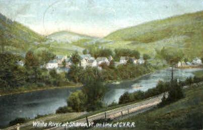 White River - Sharon, Vermont VT Postcard