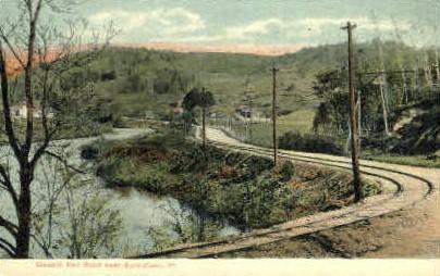 Electric Rail Road - Springfield, Vermont VT Postcard