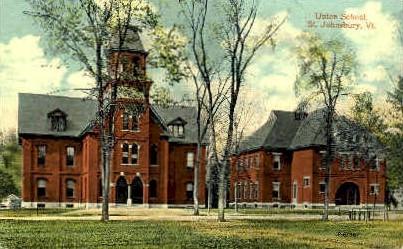 Union School - St Johnsbury, Vermont VT Postcard