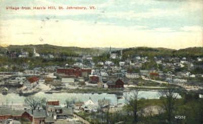 Harris Hill - St Johnsbury, Vermont VT Postcard
