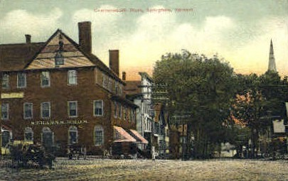 Commonwealth Block - Springfield, Vermont VT Postcard