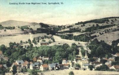 Highland View - Springfield, Vermont VT Postcard