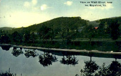 Whili River - South Royalton, Vermont VT Postcard
