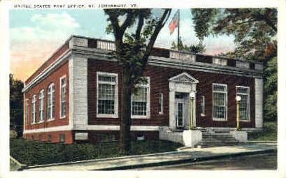 Post Office - St Johnsbury, Vermont VT Postcard