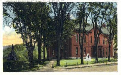 Court House - St Johnsbury, Vermont VT Postcard