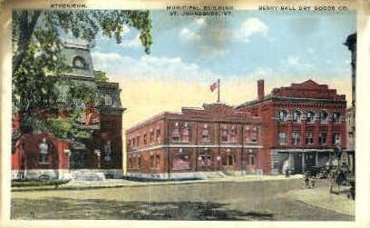 Municipal Building - St Johnsbury, Vermont VT Postcard