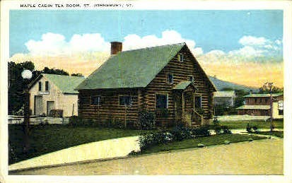 Maple Cabin - St Johnsbury, Vermont VT Postcard