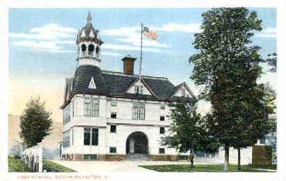 High School - South Royalton, Vermont VT Postcard