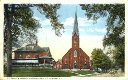 St. Mary's Catholic Church - St Albans, Vermont VT Postcard