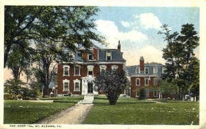 Hospital - St Albans, Vermont VT Postcard
