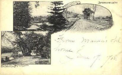 Up River Road - Springfield, Vermont VT Postcard