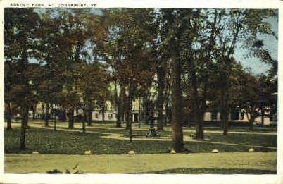 Arnold Park - St Johnsbury, Vermont VT Postcard