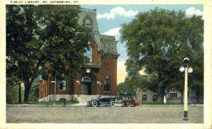 Public Library - St Johnsbury, Vermont VT Postcard