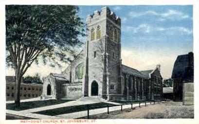 Methodist Church - St Johnsbury, Vermont VT Postcard