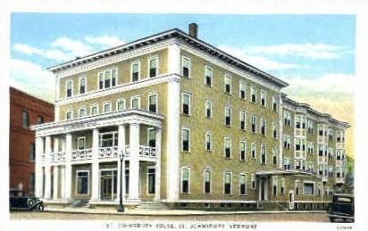 St. Johnsbury House - St Johnsbury, Vermont VT Postcard