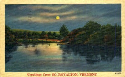 Royalton - South Royalton, Vermont VT Postcard
