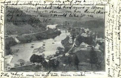 River Bank - Sharon, Vermont VT Postcard