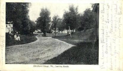 Sfrafford Village - Strafford, Vermont VT Postcard