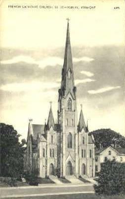 French Catholic Church - St Johnsbury, Vermont VT Postcard