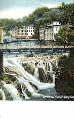 Falls - Springfield, Vermont VT Postcard