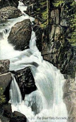 Great Falls Cascade - Troy, Vermont VT Postcard