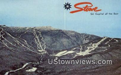 Mount Mansfield Ski Area - Stowe, Vermont VT Postcard