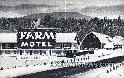 Farm Motel - Stowe, Vermont VT Postcard