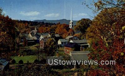 Stowe, Vermont      ;     Stowe, VT Postcard