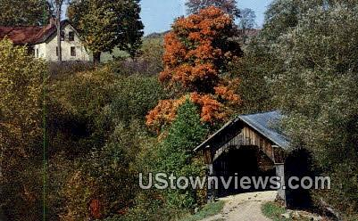 Stowe Hollow Bridge - Vermont VT Postcard