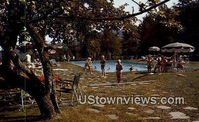 Lodge Pool, Smugglers Notch - Stowe, Vermont VT Postcard