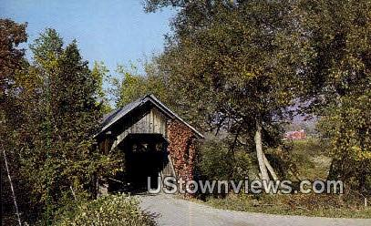 Covered Bridge - Stowe, Vermont VT Postcard