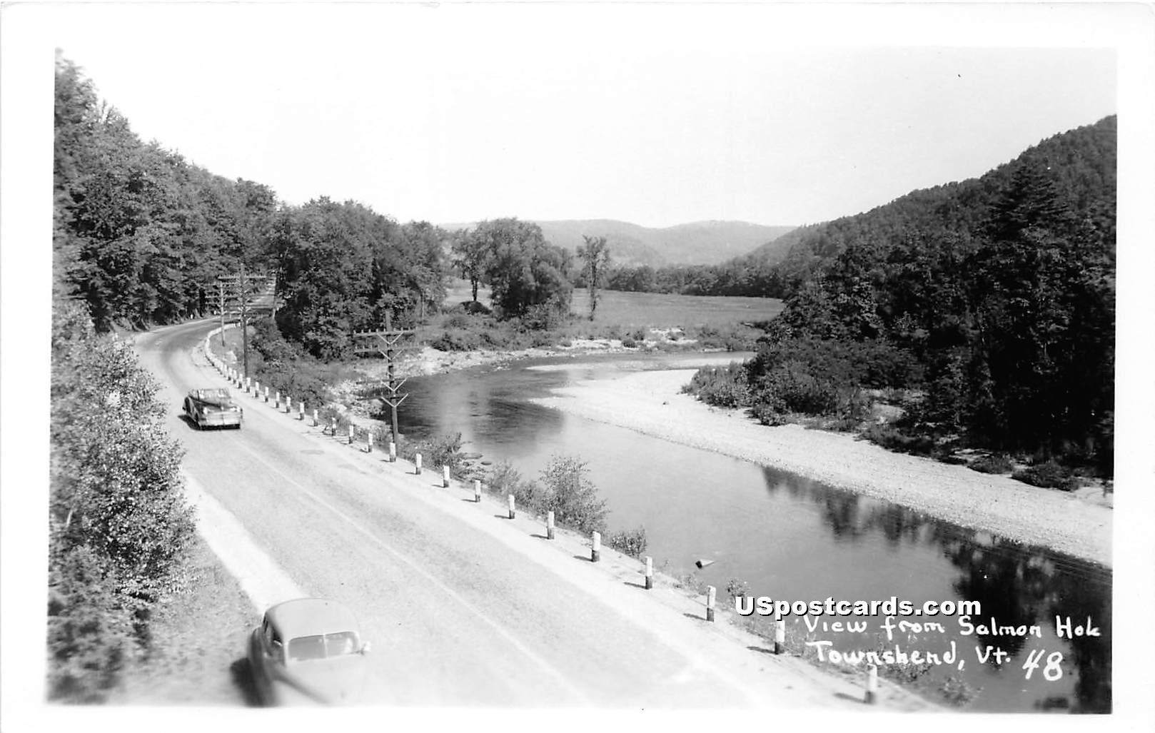 Salmon Hole - Townshend, Vermont VT Postcard