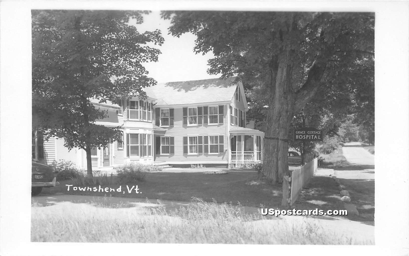 Grace Cottage Hospital - Townshend, Vermont VT Postcard