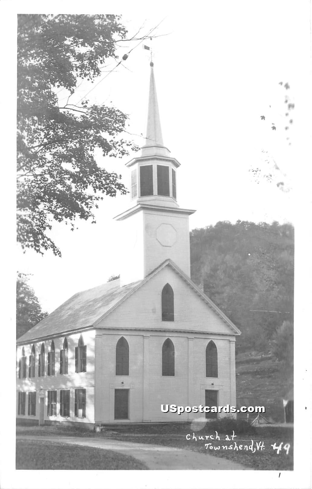 Church - Townshend, Vermont VT Postcard