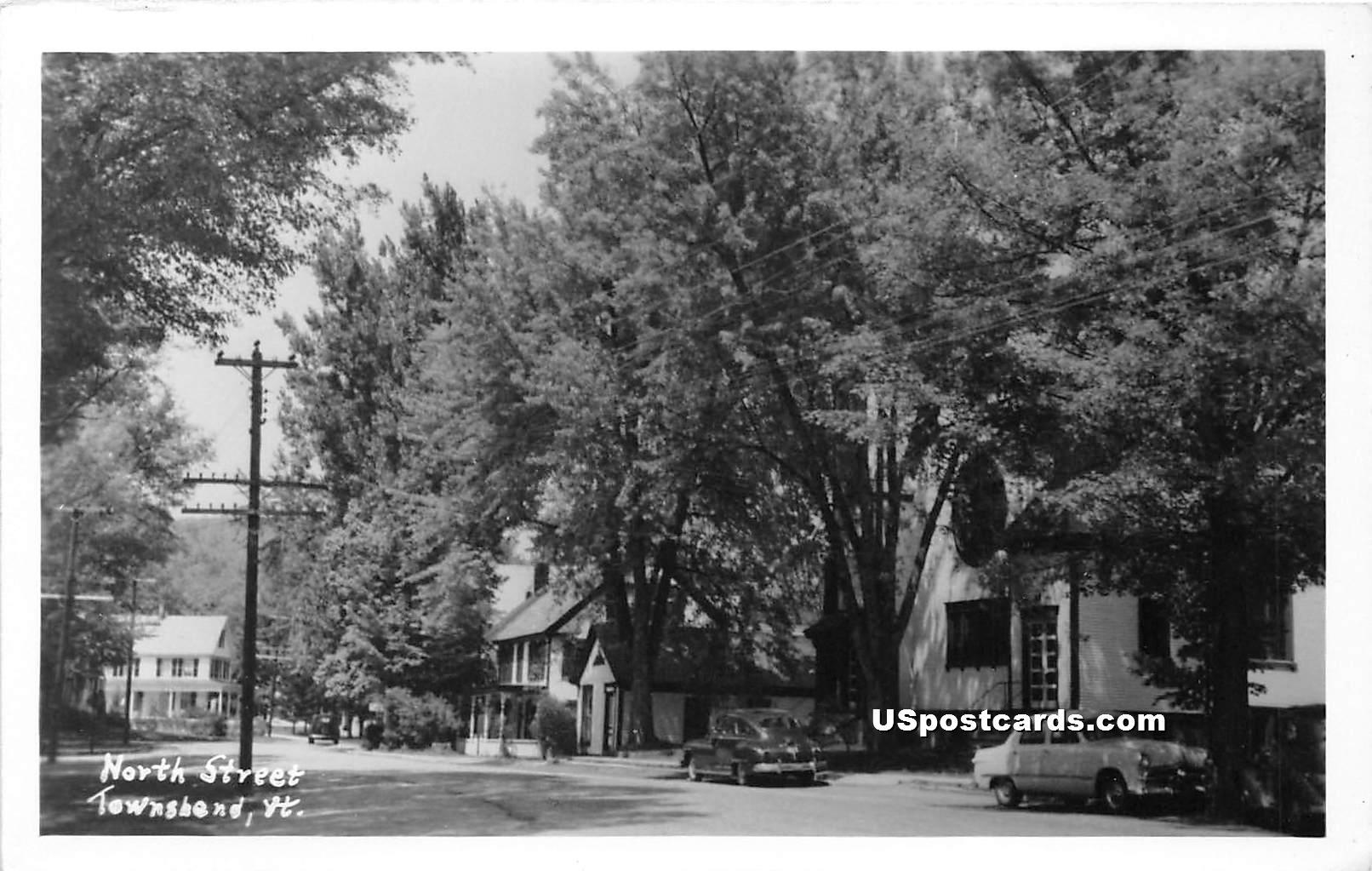 North Street - Townshend, Vermont VT Postcard