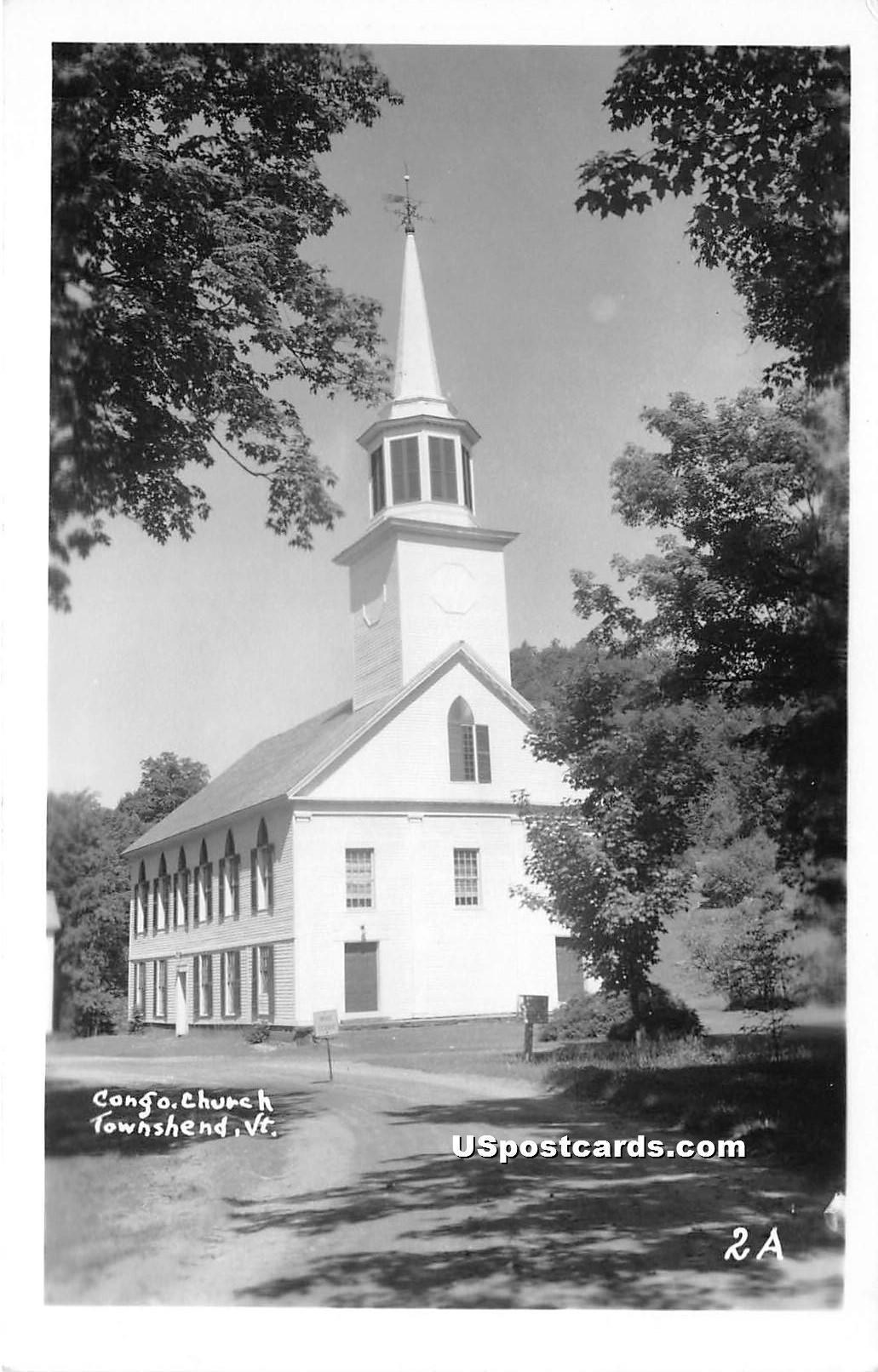 Congregational Church - Townshend, Vermont VT Postcard
