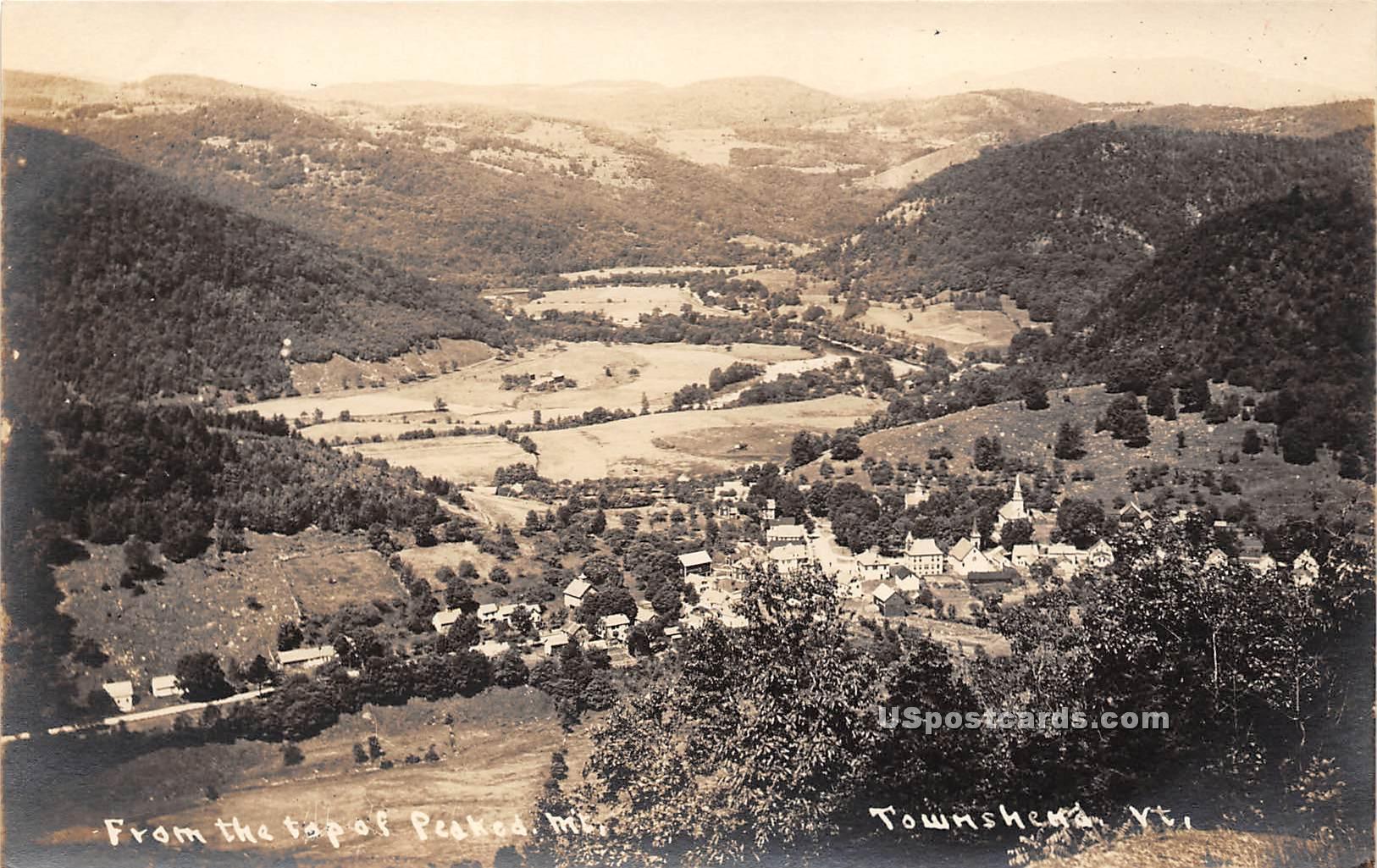 Peaked Mountain - Townshend, Vermont VT Postcard