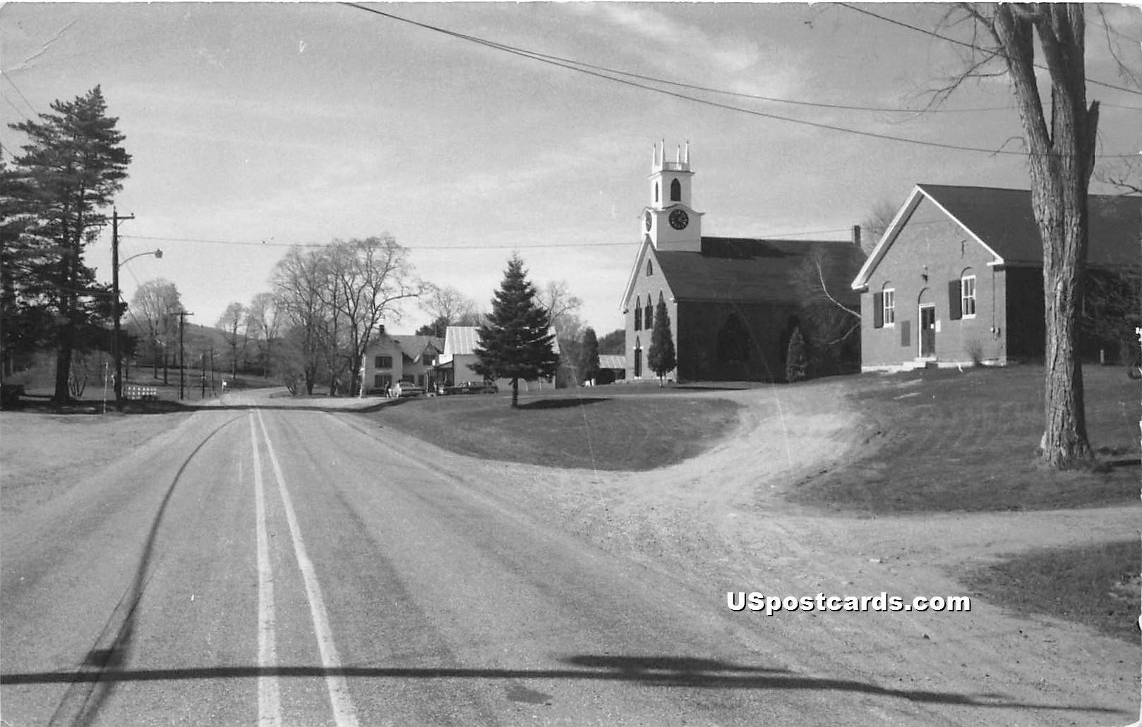 Street Scene - Thetford Center, Vermont VT Postcard