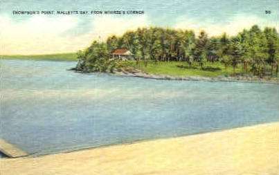 Malletts Bay - Thompsons Point, Vermont VT Postcard