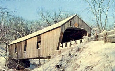 Covered Bridge - Misc, Vermont VT Postcard