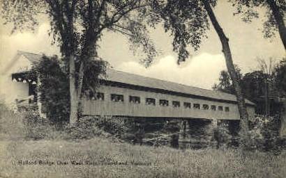 Holland Bridge - Townshend, Vermont VT Postcard