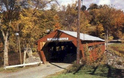 Covered Bridge - Taftsville, Vermont VT Postcard