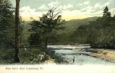 West River - Townshend, Vermont VT Postcard