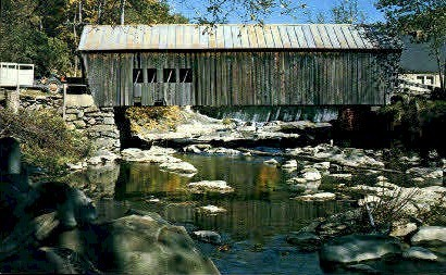 Covered Bridge - Tunbridge, Vermont VT Postcard