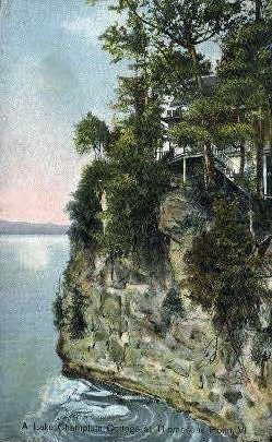 Lake Champlain - Thompsons Point, Vermont VT Postcard