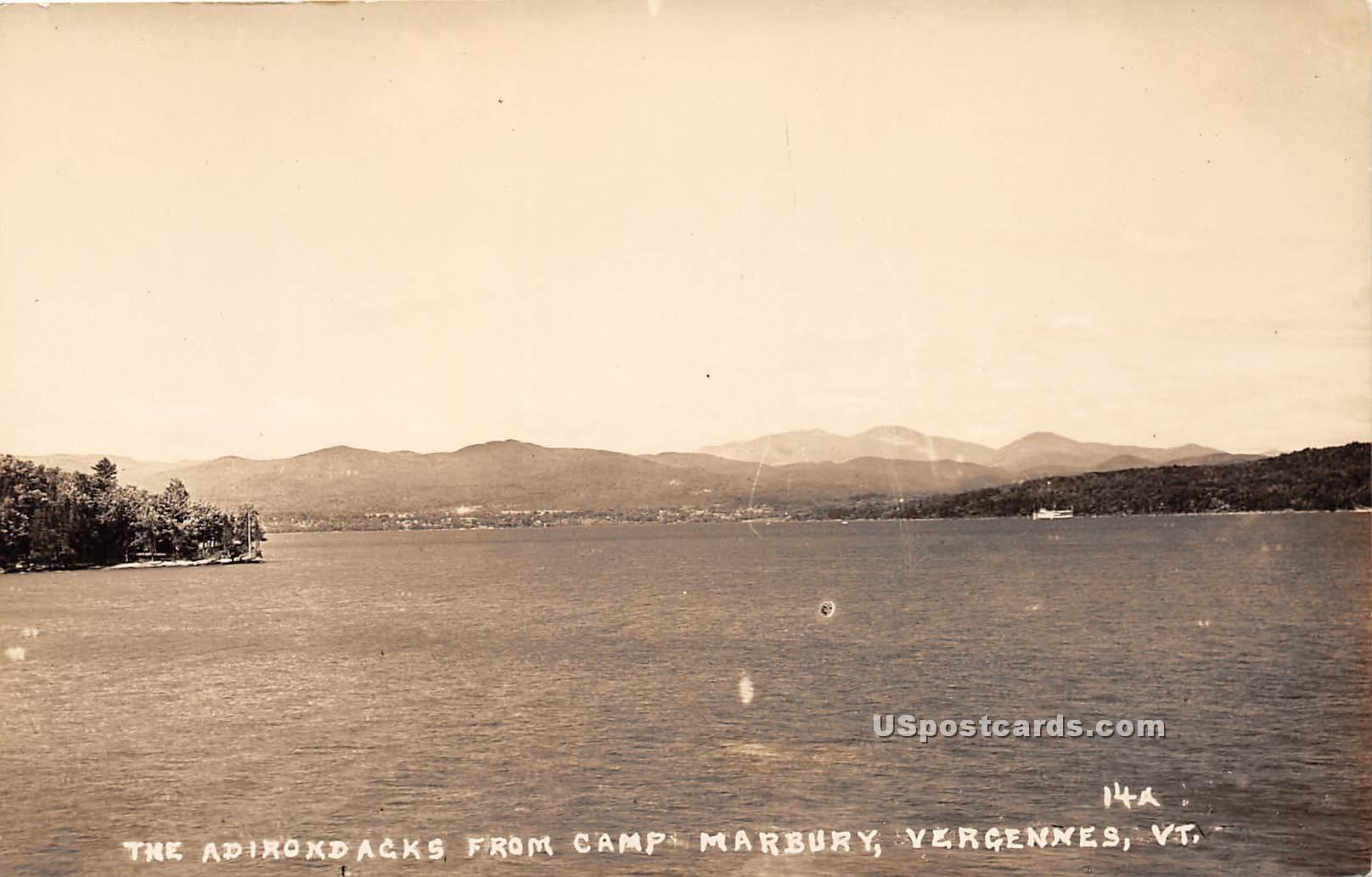 Adirondacks - Vergennes, Vermont VT Postcard