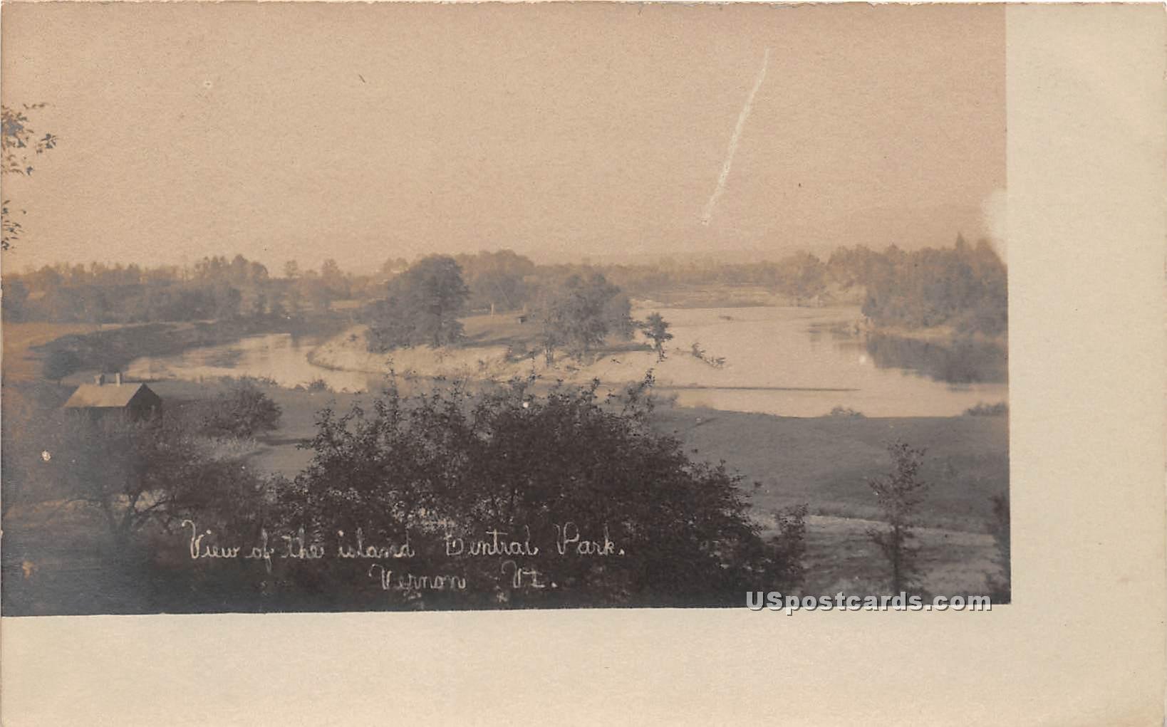 Central Park - Vernon, Vermont VT Postcard
