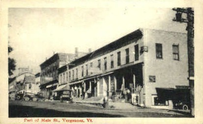 Main Street - Vergennes, Vermont VT Postcard