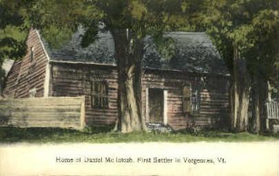 Daniel McIntosh Home - Vergennes, Vermont VT Postcard